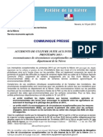 CP Force Majeure Inondations 2013