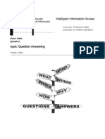 Intelligent Information Access Question Answering by Heider Jeffer