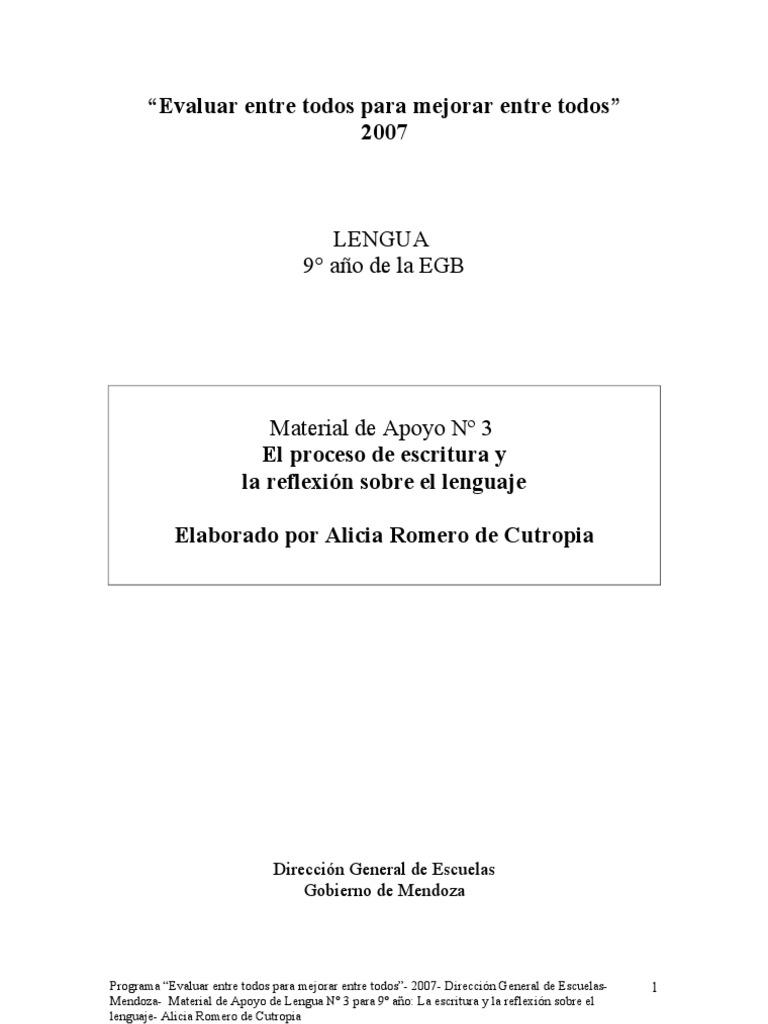 55- El Proceso de Escritura y La Reflexion Sobre El Lenguaje