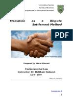 Enviromental Law -law of mediation in jordan