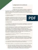 Reglamento para la categorizaci+¦n de los profesores investigadores