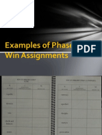 examples of phase two win assignments