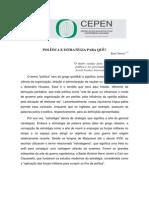 AMBINERGIA  2009 - TEXTOS DE APOIO CEPEN - Política e Estratégia para quê