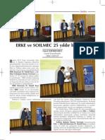 ERKE Group, ERKE'ye 25. Yıl Özel Ödülü - Şantiye Dergisi / Temmuz 2013