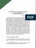 San Martín, La estructura del método fenomenológico