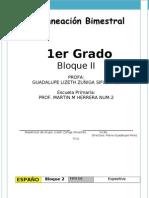 1er Grado - Bloque 2 - Español