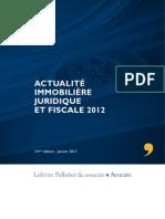 Brochure Actualité immobilière juridique et fiscale 2012