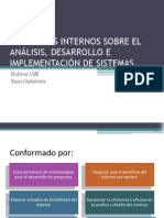 CONTROLES INTERNOS SOBRE EL ANÁLISIS, DESARROLLO E