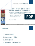 Présentation LPA Actualité fiscale 30 janvier 2013