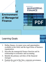 Chapter 1 the Role and Environment of Managerial Finance