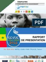 Rapport de Presentation Rac 2012