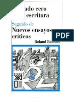 Barthes Roland El Grado Cero de La Escritura