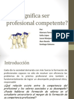 Qué significa ser profesional competente