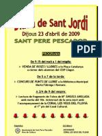 Programa Sant Jordi 2009 St.Pere Pescador