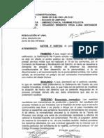 Primer Juzgado Constitucional de Lima aceptó medida cautelar contra sorteo para servicio militar