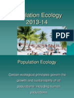 Lecture Population Ecology 2013 14