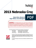 Nebraska Crop Budget
