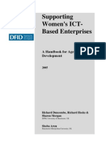 Supporting Women's ICT-Based Enterprises a Handbook for Agencies upporting Women's ICT-Based Enterprises A Handbook for Agencies in Developmentn Development