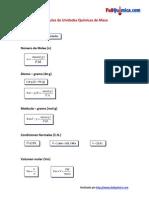 Fórmulas de Unidades Químicas de Masa