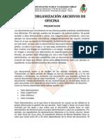 MANUAL ORGANIZACIÓN ARCHIVOS DE OFICINA