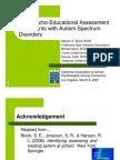 Autism Spectrum Disorder Assessment