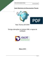 MDFe Nota Tecnica 2013 001