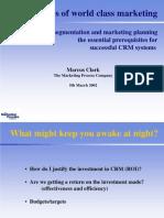 Presentation - Market Segmentation and Marketing Planning in Practice