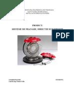 Sisteme de Franare, Directie si Suspensie.doc