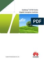 Quidway S5700 Series Gigabit Enterprise Switches
