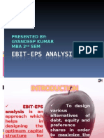 EBIT-EPS ANALYSIS {by GYANDEEP}