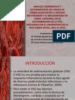 ESTUDIO Westergreen y Micrometodo