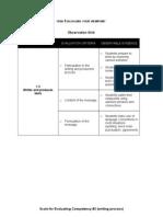 Evaluation Grid (Sample 1)