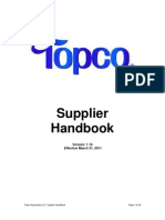 Topco Supplier Handbook - 4.1.2011