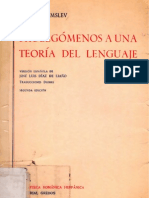 Prolegómenos a una teoría del lenguaje - Louis Hjelmslev