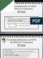 Teste Artes 2oTrimestre