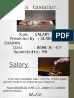 Business Taxation- Salary