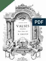 437324 Valses Celebres Frederic Chopin