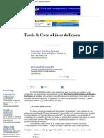 Teoría de Colas o Líneas de Espera - Investigación de Operaciones - Ingeniería Industrial