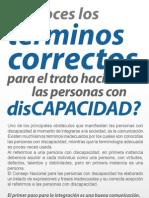 Terminos Correctos Sobre Discapacidad Copy Copy
