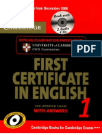 Cambridge First Certificate Student Book