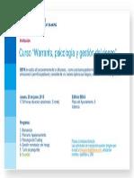 Invitación Curso Warrant,psicologia y getion riesgo Valencia