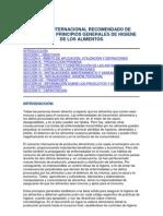 CÓDIGO INTERNACIONAL RECOMENDADO DE PRÁCTICAS