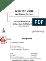 Quick-Win OBIEE Nov2011