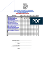 Borang Markah Kerja Kursus Sekolah Ting309