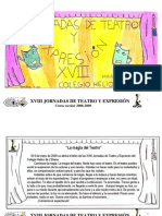 PROGRAMA XVIII JORNADAS DE TEATRO Y EXPRESIÓN