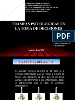 Trampas Psicologicas en La Toma de Decisiones Carlos Henriquez