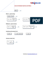 Fórmulas de Unidades Químicas de Masa v2.0