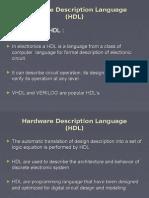 20477704 Hardware Description Language HDL Introduction to HDL