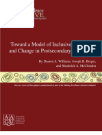Towards A Model of Inclusive Excellence and Change by Dr. Damon A. Williams, and Mr. Shederick McClendon