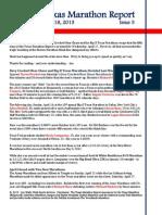 Texas Marathon Report, Issue 5, June 18, 2013